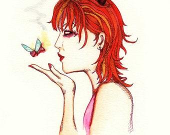 Devil Girl Fine Art Print