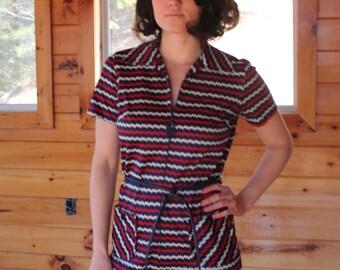 SALE Vintage Mod 60's Stripe Dress