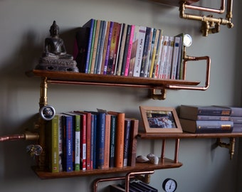 Steampunk-Industrial Bookshelf