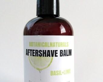 Basil Lime Aftershave Lotion,Citrus Post Shave Moisturizer, Natural Skin Care