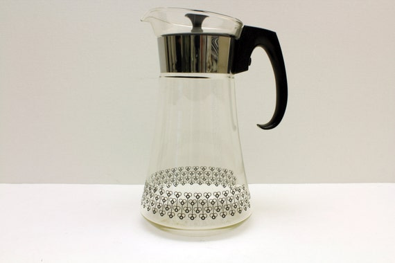 Large vintage pyrex coffee carafe glass coffee pitcher heat - Heat proof pitcher ...