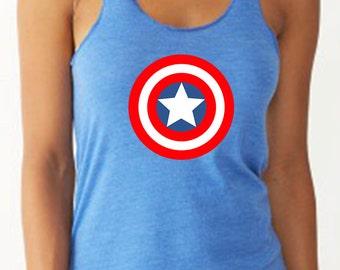 Captain America Avengers Shirt Running Tank Captain America Disney Tank   Avenger Tank Half Marathon Tank