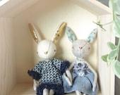Bunny Plush Friend - Home Decor - Bunny Collection - Rabbit plushie - Softoy - Stuffed Animals - handmade plushie - Ready to Ship