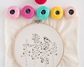 Hand Embroidery Kit birds and flowers