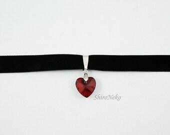 Heart lolita pastel goth choker