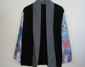 Upcycled silk kimono, one size up to XL, OOAK