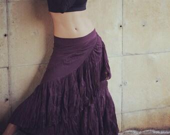 Long gypsie flamenco skirt.