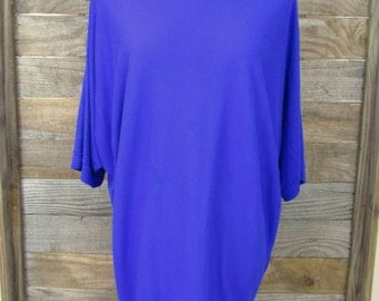 1980's Vintage Royal Blue Oversized Tunic