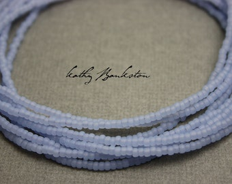 Light Blue Seed Bead Necklace, Blue Seed Bead Necklace, Blue Layering Necklace, Long Blue Necklaces, Tiny Blue Necklaces, Kathy Bankston