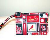 St Louis Cardinals Wristlet  Bag, Cell Phone Bag, Padded Bag, Small Tech Bag
