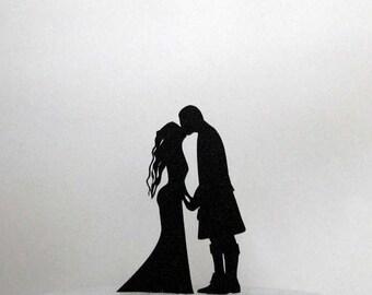 Wedding Cake Topper - Scottish Wedding silhouette cake topper