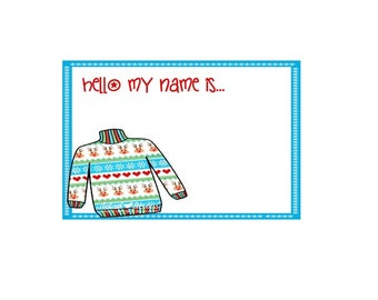 Christmas name tag | Etsy