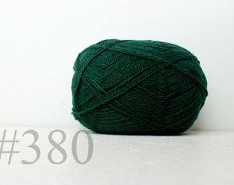 WOOL yarn 100%-knitting yarn - green #380