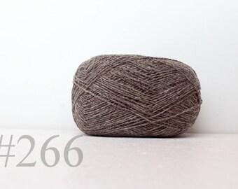 WOOL yarn 100%-knitting yarn -  browny grey #266