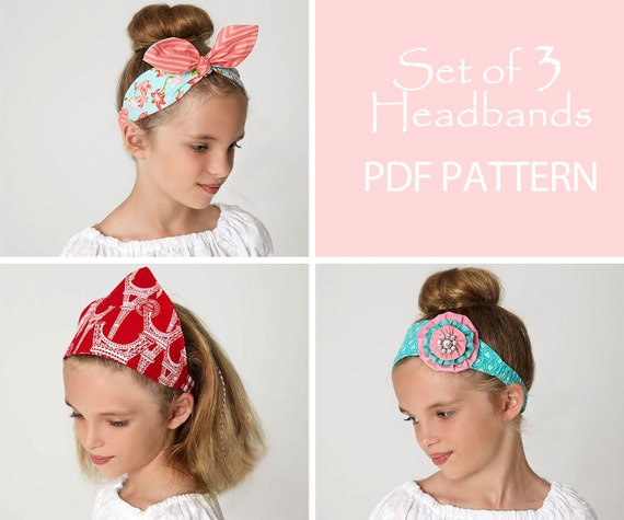 Flower Headband Tutorial: Headband Pattern Pdf Retro Headband Pattern Scarf Pattern