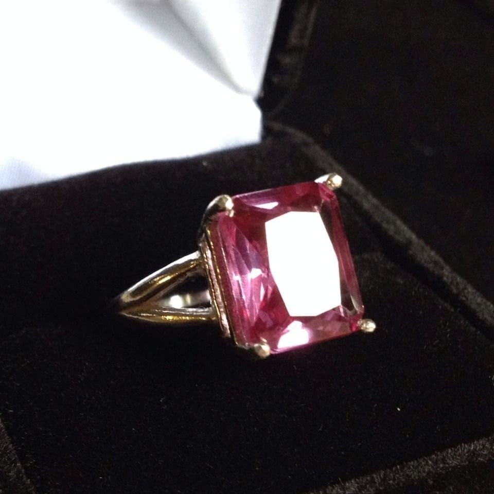 beautiful 6ct emerald cut alexandrite sterling silver ring 5 6