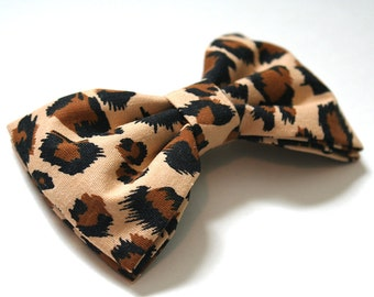 Leopard Hair Bow - Leopard Bow Tie - Cheetah Hair Bow - Cheetah Bow Tie - Cheetah Bow - Leopard Bow