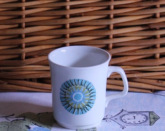J & G Meakin Studio Coffee Cup in Iconic 1960's Aztec Design