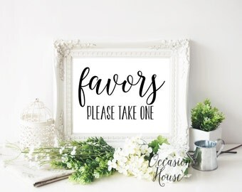 Printable Favors Please Take One Sign, Wedding Favor sign, printable wedding favors sign,wedding sign,Reception sign, Instant Download, FP01