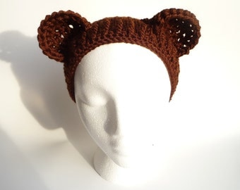 Bear Hat CROCHET PATTERN Teddy Bear Headband Crochet Bear Hat Pattern Teddy Bear Hat Adult Bear Hat Animal Hat Animal Headband Kawaii Hat