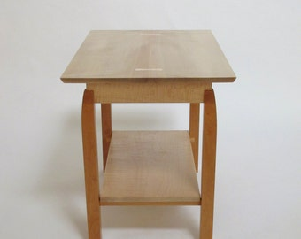 Side Table with Shelf- narrow side table, occasional table, wood accent table- Handmade Wood Furniture- Custom Tables
