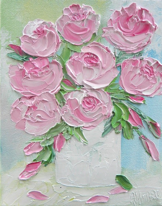 oil painting pink flower - photo #29