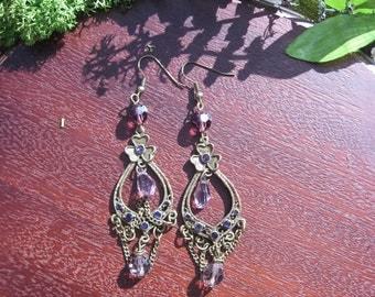 Lavender Bloom Steampunk earrings