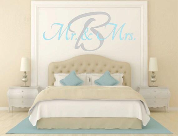 mrs wall decal master bedroom vinyl decal vinyl lettering wall