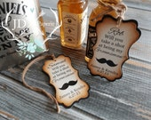 Will you take a shot at being my... Best Man, Groomsmen?  Shimmering Mustache, Rustic Favor Tags