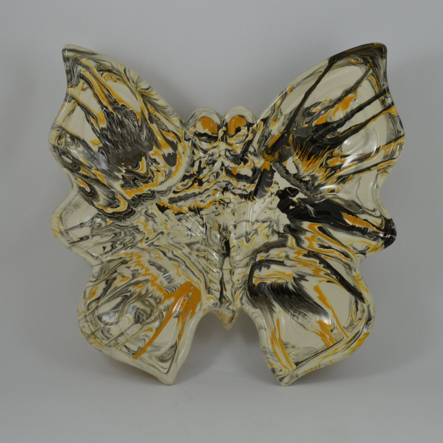 Vintage 80s Butterfly Shaped Dish