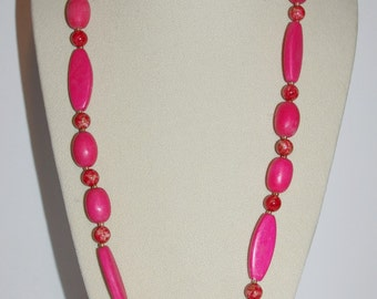 Joan Rivers Beaded Necklace - Pink 30 Inches                 - S1091