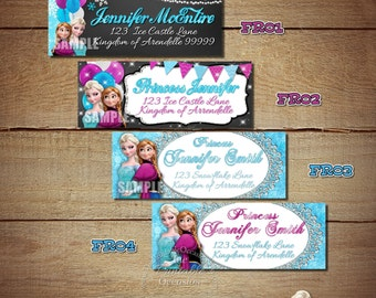 Frozen Return Address Labels, Frozen Address Labels for Frozen Invitations, Frozen, Mailing Labels, Shipping Labels, Address, Envelope