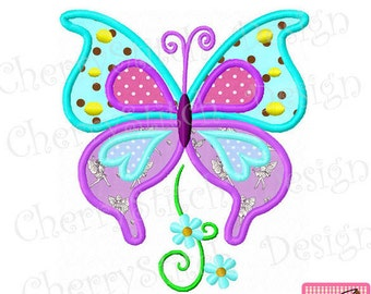 """Butterfly Machine Embroidery Applique 02 -4x4 5x5 6x6"""""""