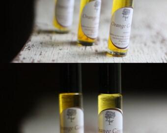 Orange Ginger Perfume Oil Roll On - Handmade Perfume Oil