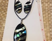 SALE!! Inlay Abalone Set..Nice Gift Set For Both Male & Female.