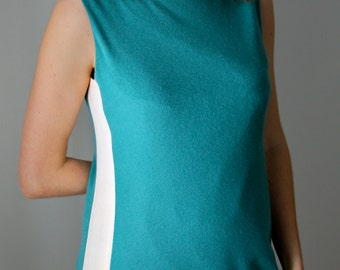 Cashmere mix shift dress with Vintage Kimono Silk