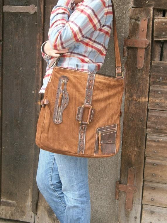 17 inch Leather Laptop Shoulder Bag,Etno Handmade Bag, Genuine leather Messenger Bag, Office bag, Laptop Leather bag, Gift for her