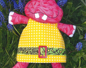 Pattern ''Hilda'' Hippo Soft Sculpture, Stuffed Toy, Softie, Cloth Toy Sewing Pattern by Melly & Me (MM053)