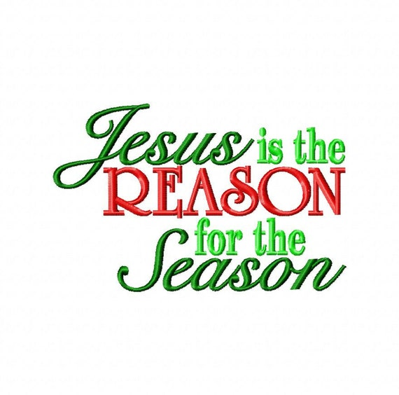 Jesus Is The Reason For The Season Items similar to Jesus...