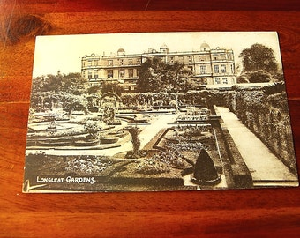 Two early sepia postcards of Longleat House