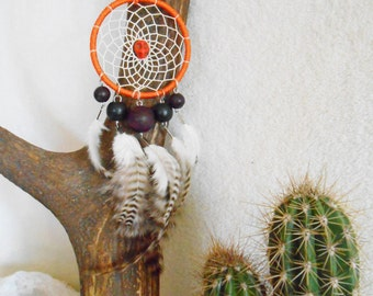 Wall Dreamcatcher - natural rooster feathers