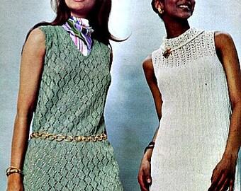 Groovy Knit Dress Patterns - Circa 1970