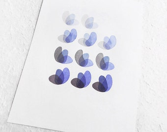 "Original watercolor painting - modern wall hangings - ""Blue Harmony""- Art Painting"