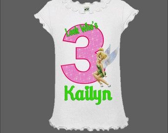 Tinkerbell Birthday Shirt - Pink and Green