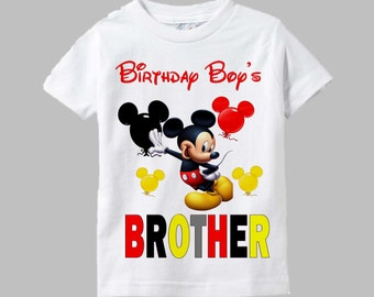 Mickey Mouse Brother Shirt - Mickey Mouse Matching Sibling Shirt