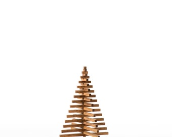 Wooden bamboo Christmas tree