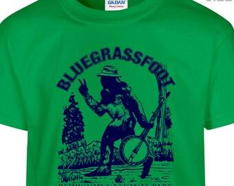 YOUTH / KIDS BluegrassFoot T Shirt Kids Size Bluegrass Shirt Youth Childrens Bluegrass Banjo Shirt