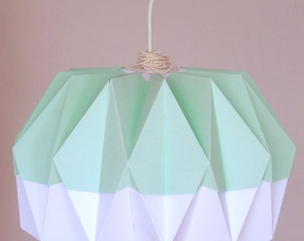 Origami lamp shade 'Pastel green'