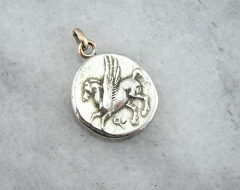 Pegasus Coin Pendant From Ancient Greece XDYUCX-R