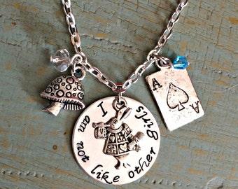 I am not like other girls Alice in wonderland Necklace
